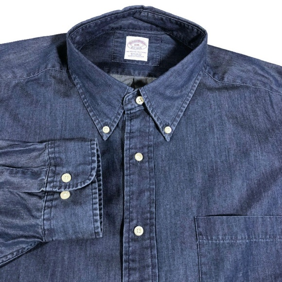 7fa950e7 Brooks Brothers Other - Brooks Brothers Denim Shirt Button Front Regular